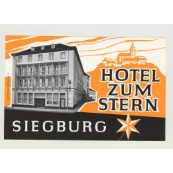 Hotel Zum Stern - Siegburg / Germany (Vintage Luggage Label)