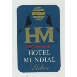 Hotel Mundial Lisboa / Portugal (Vintage Luggage Label)