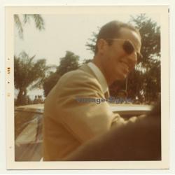 Congo: Le Roi Baudouin About To Enter Car (Vintage Photo 1970)