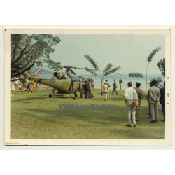 Congo: Royal Helicopter Waiting For King Baudouin & Queen...