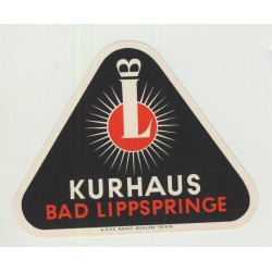 Kurhaus - Bad Lippspringe / Germany (Vintage Luggage Label LARGE)