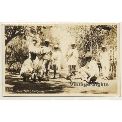 Philippines: Cock Fight / Poultry - Chicken (Vintage RPPC ~1900s)