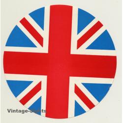 UK: Union Jack - National Flag (Vintage Luggage Label ~ 1960s)