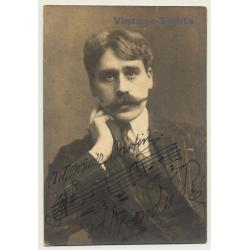 Stienon Du Pré: Portrait Of Man With Moustache (Vintage Photo...