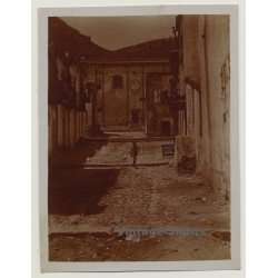 Palermo? / Italy: Backstreet Alley / Old House Facades...