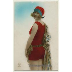 A. Noyer: Pretty Blonde Woman In Swimsuit / Boudoir - Risqué...