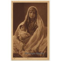 Lehnert & Landrock N° 122: Bedouine WIth Baby / Headdress...
