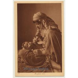 Lehnert & Landrock N° 186: La Jeune Mère / Bedouin Woman &...