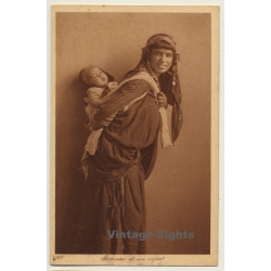 Lehnert & Landrock N° 187: Bedouine Et Son Enfant / Carries...