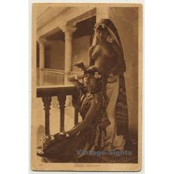 Lehnert & Landrock N° 199: Fillettes Bedouines / Harem Girls...