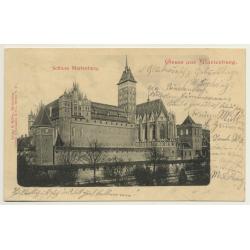 Malbork / Poland: Schloss Marienburg (Vintage PC 1899)