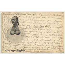Tunisia: Topless Mabrouka Female / Risqué - Ethnic (Vintage PC...