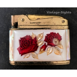 Vintage Queen Star Super Lighter / Roses & Mother-of-Pearl ~...