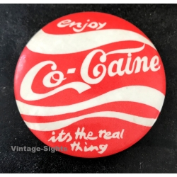 Enjoy Co-Caine - It's The Real Thing (Vintage Pinback Button...