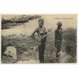 Afrique: Pècheuses d'Etang - Indigenous / Semi Nude - Ethnic...