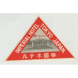 Imperial Hotel - Tokyo / Japan (Vintage Luggage Label)