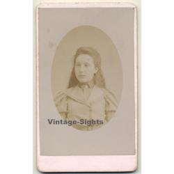 Portrait Of Unidentified Belgian Girl / Victorian Era (Vintage...