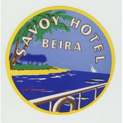Savoy Hotel - Beira / Mozambique (Vintage Luggage Label)
