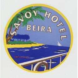 Savoy Hotel - Beira / Mozambique (Vintage Luggage Label)
