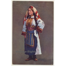 Bosnia & Herzegovina: Woman In Traditional Costume (Vintage...