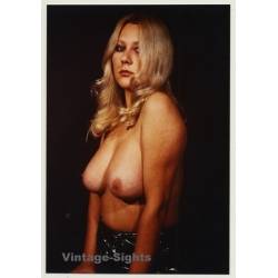 Busty Topless Blonde Female *4 / Pin-Up - Boobs (Vintage Photo...