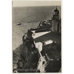 Peñiscola / Spain: Acantilados Y Faro - Lighthouse (Vintage RPPC)
