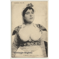 Tunisia: Busty Native Woman / Topless - Ethnic (Vintage PC...
