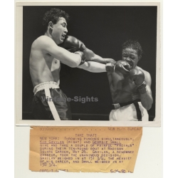 Boxing: Kid Gavilan VS Georgie Small (Vintage Press Photo May...