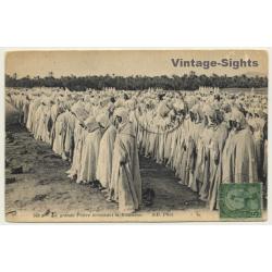 Algeria: The Great Prayer Ending Ramadan (Vintage PC 1914)