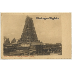 Madras / India: Tempio Del Dio Kanda / Kandhakottam Temple...