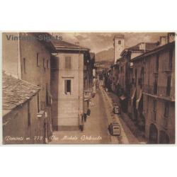 Demonte (Cuneo) / Italy: Via Michele Ghibaudo (Vintage RPPC)