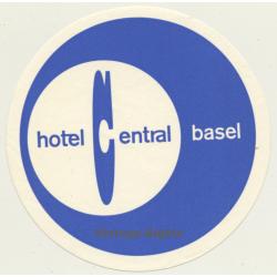 Hotel Central - Basel / Switzerland (Vintage Luggage Label)