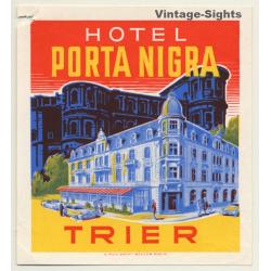 Hotel Porta Nigra - Trier / Germany (Vintage Luggage Label)