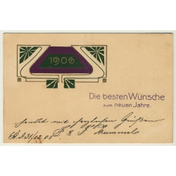 New Year Greetings: Besten Wünsche Zum Neuen Jahr (Vintage PC...