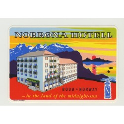 Norrona Hotell - Bodø / Norway (Vintage Luggage Label)