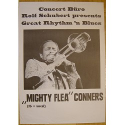 Mighty Flea Conners - Great Rhythm 'N Blues (Vintage Jazz Concert Poster)