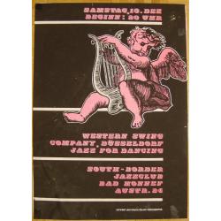 Western Swing Company Duesseldorf - Roland Korndörffer (Vintage Screen Printed Jazz Poster)
