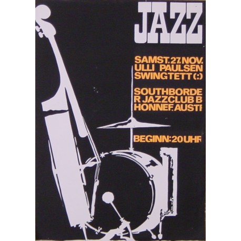 Ulli Paulsen Swingtett / Roland Korndörffer (Vintage Screen Printed Jazz Poster)