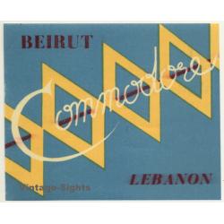 Beirut / Lebanon: Hotel Commodore (Vintage Luggage Label)