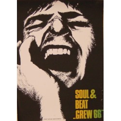 Soul & Beat 'Crew 66' / Roland Korndörffer (Vintage Screen Printed Concert Poster)
