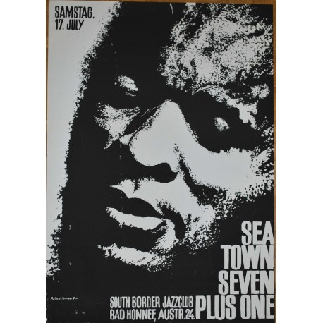 Sea Town Seven Plus One / Roland Korndörffer (Vintage Screen Printed Jazz Poster)