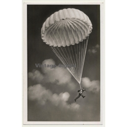 German Parachutist - WW2 (Vintage Field Post RPPC 1943)