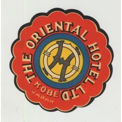 The Oriental Hotel  - Kobe / Japan (Vintage Die-Cut Luggage Label)
