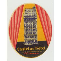 Castelar Hotel - Buenos Aires / Argentina (Vintage Luggage Label)