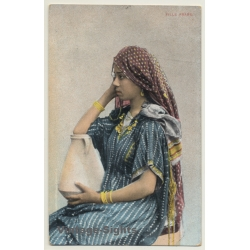 Lichtenstern & Harari: Fille Arabe - Headdress (Vintage PC...