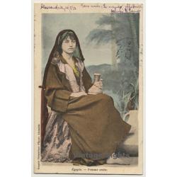 Egypt: Femme Arabe / Water Jug (Vintage PC Ethnic 1903)