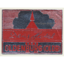 Oldenburg / Germany: Deus Hotel (Vintage Luggage Label)