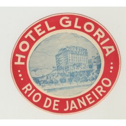 Hotel Gloria - Rio De Janeiro / Brazil (Vintage Luggage Label)
