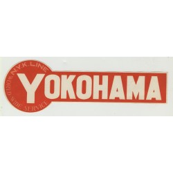 N.Y.K. Shipping Line To Yokohama / Japan (Vintage Luggage Label)