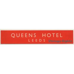 Leeds / UK: Queens Hotel (Vintage Luggage Label)